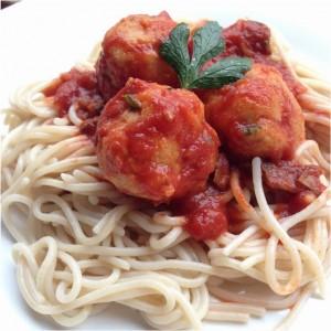 egg balls and gf pasta