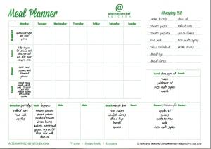 Alternative Chef Kitchen Ultimate Meal Planner -sample