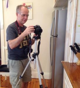 Brenton bts with camera