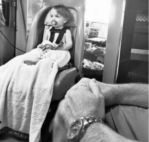 baby gardner in hospital