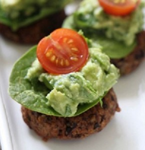 Modern day missus black bean patty
